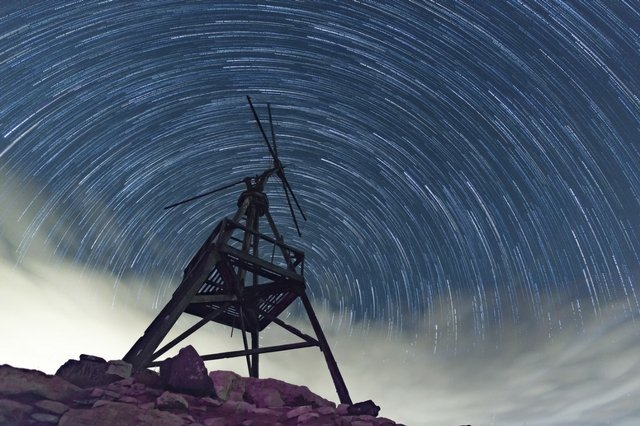 Fuerteventura's iconic water mills and windmills make it perfect for astrophotography